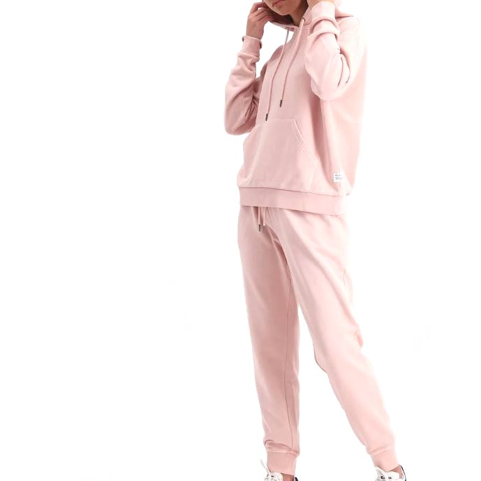 Huffer Slouch Hood / Cont Badge - dusky pink