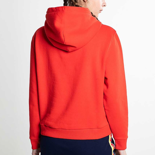 Tommy Jeans Tommy Signature Hoodie - flame scarlet