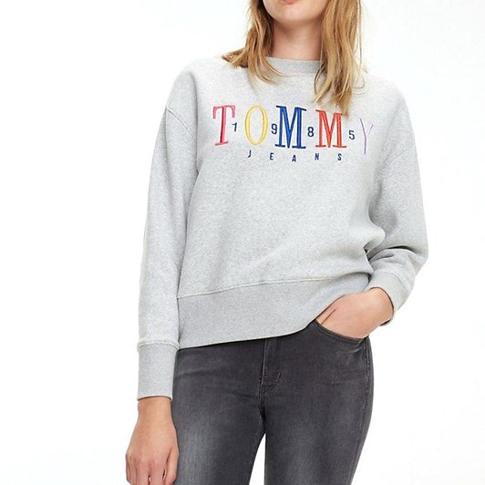 Tommy Jeans Multicolor Embroidery Crew
