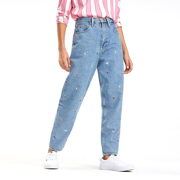 Tommy Jeans High Rise Tapered Jean 2004 Grtlb - gritter light bl