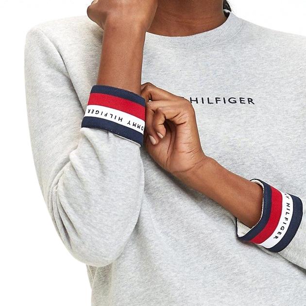 Tommy Hilfiger Corp Hilfiger L/S C-Nk Sweatshirt - light grey htr