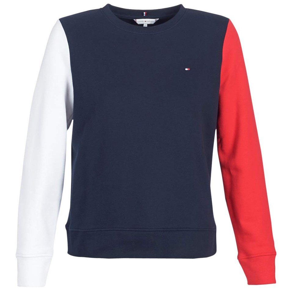 Tommy Hilfiger Claire L/S C-Nk Sweatshirt - midnight red wht