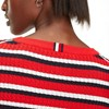 Tommy Hilfiger Essential Cable C-Nk Sweater - true red multi
