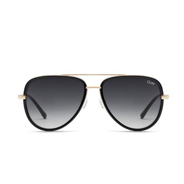 Quay All In Sunglasses - blk smoke fade