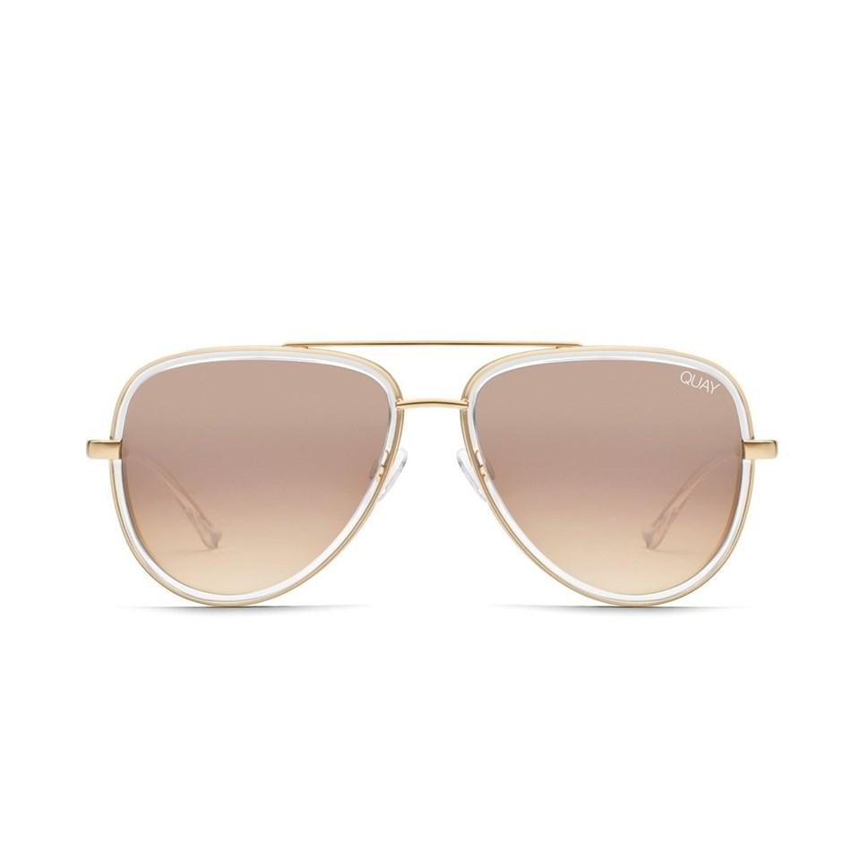 Quay All In Sunglasses - clear brwn flash