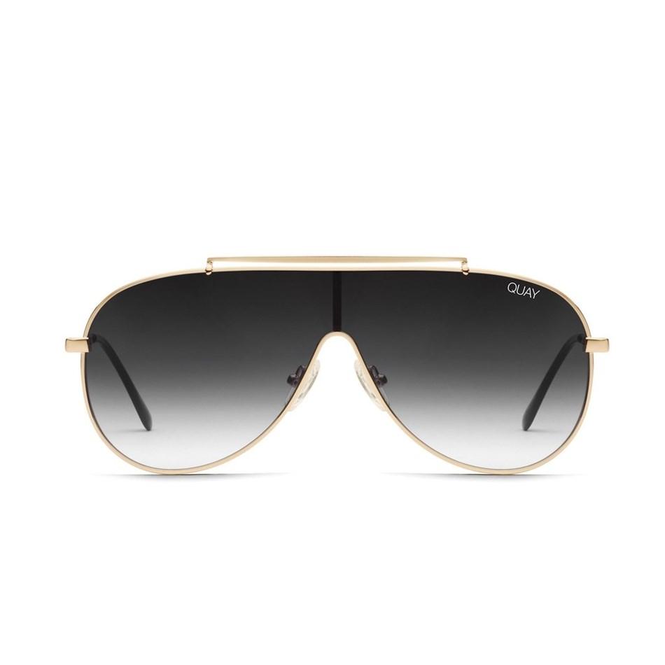 Quay Dinero Sunglasses - gold black fade