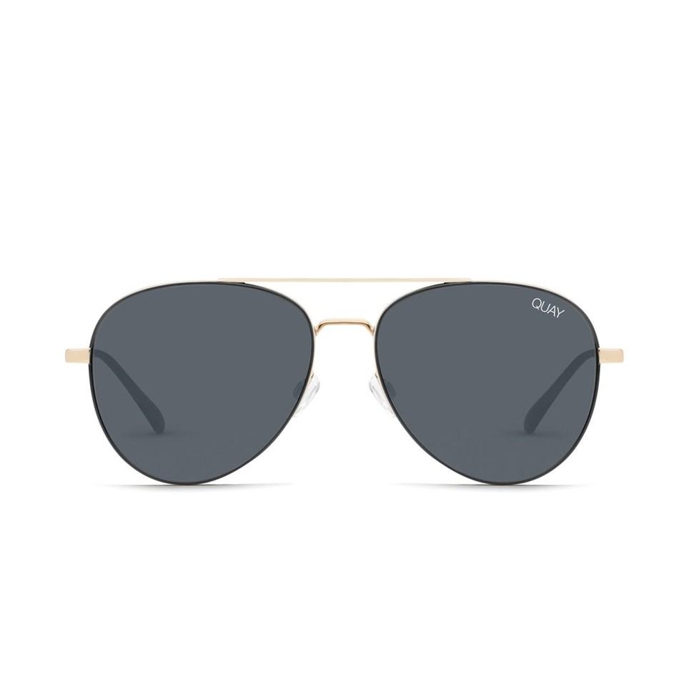 Quay Single Sunglasses - black smoke