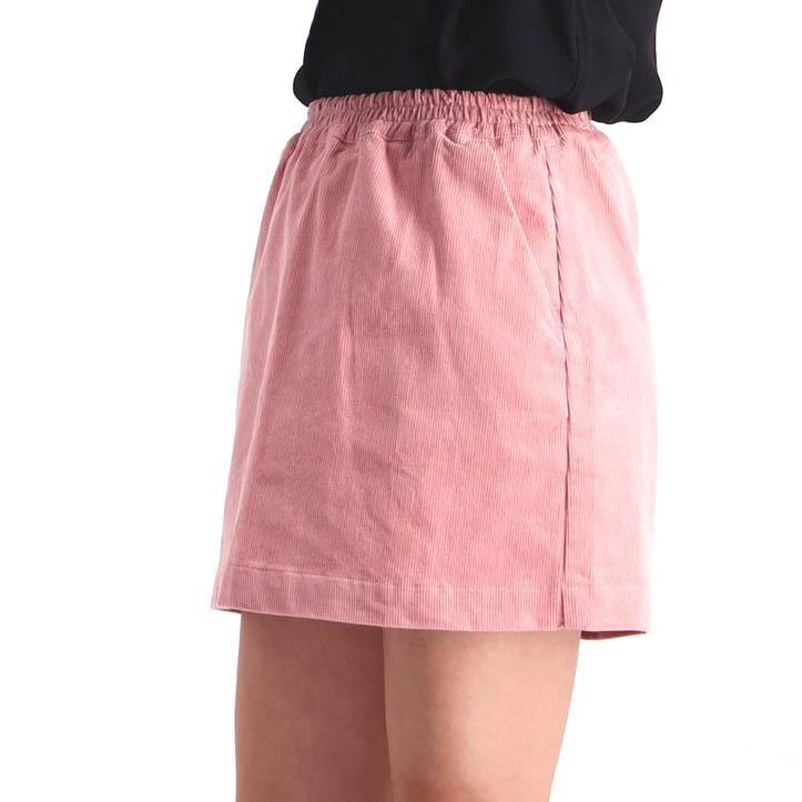 Huffer Cord Kira Skirt - raspberry