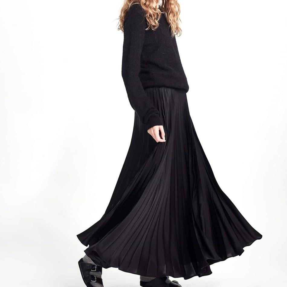 Juliette Hogan Evelyn Pleat Skirt - black