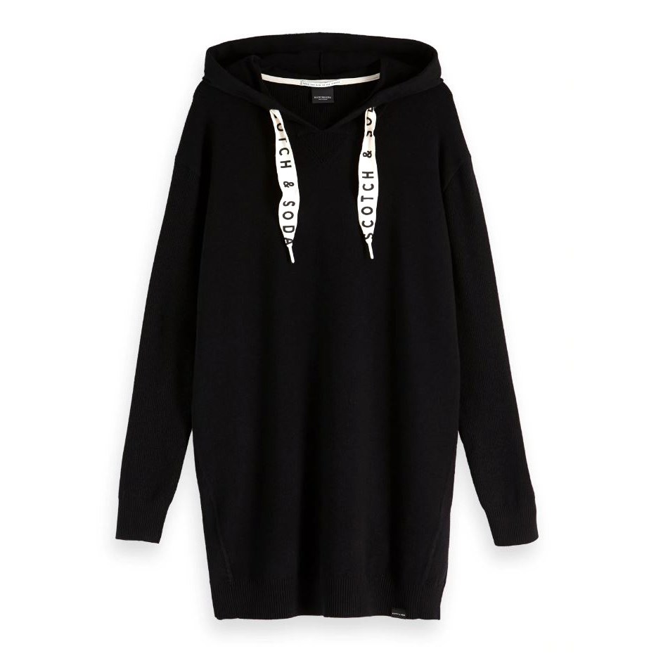 Maison Club Nomade Hooded Knit - black