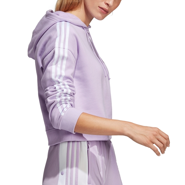 Adidas Cropped Hoodie - purglo
