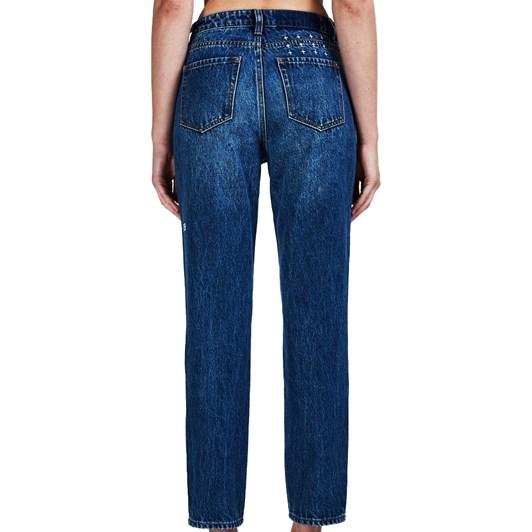 Ksubi Slim Pin Jean - Kult Blue