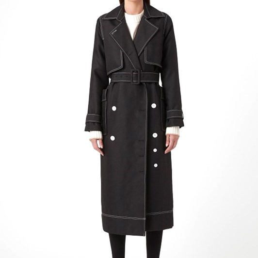 C & M Faith Topstitch Twill Trench
