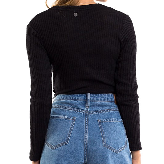 All About Eve Twist Textured L/S Top