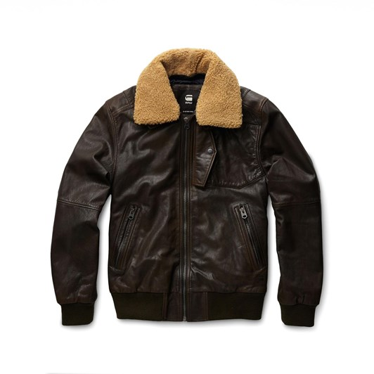 G-Star Bollard Leather Bomber