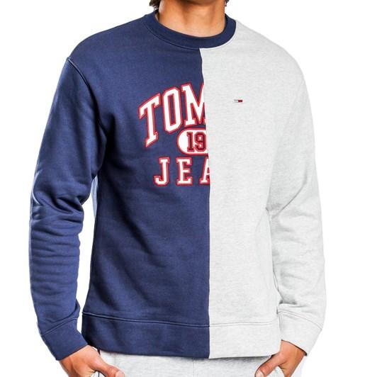 Tommy Jeans Tjm Split Logo Crew