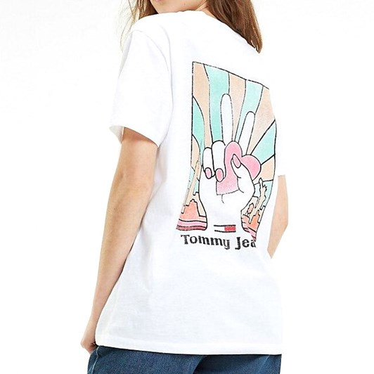 Tommy Jeans Organic Cotton Logo Boyfriend T-Shirt
