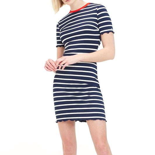 Tommy Jeans Stripped Babylock Mini Dress