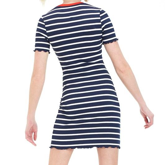 Tommy Jeans Stripped Babylock Mini Dress