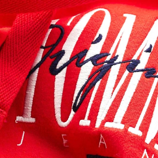Tommy Jeans Oversized Logo Drawstring Hoodie