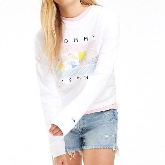 Tommy Jeans California Logo Cotton Sweatshirt