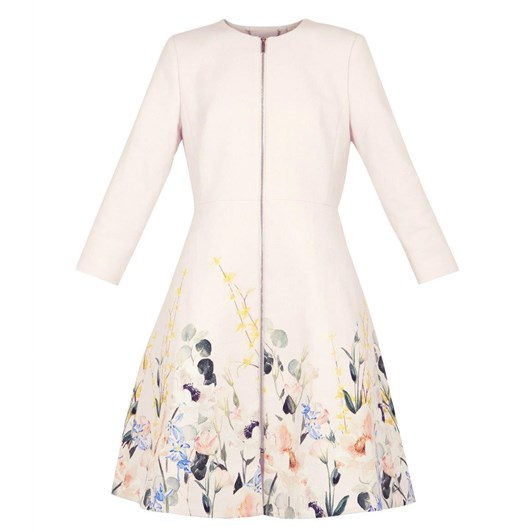 Ted Baker LULUUU Elegant Textured Dress Coat