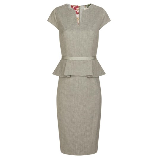Ted Baker Textured Peplum Tailored Dress