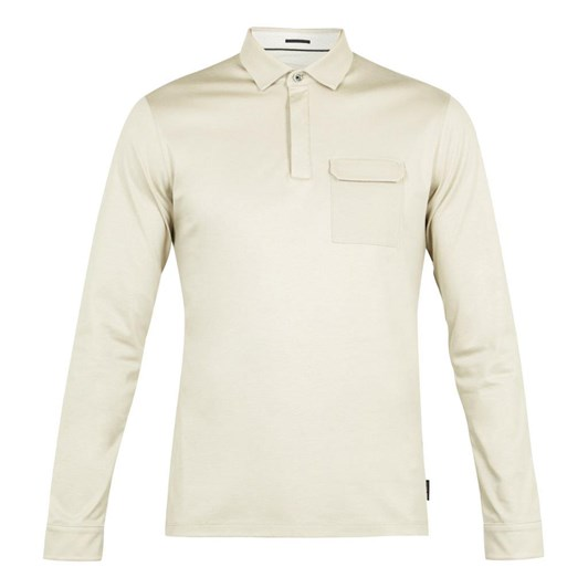Ted Baker PYTHON Ls Polo With Chest Pocket