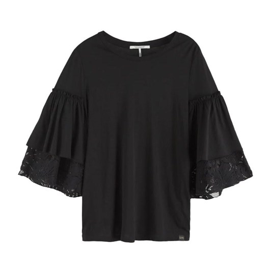 Maison Jersey Top With Ruffle