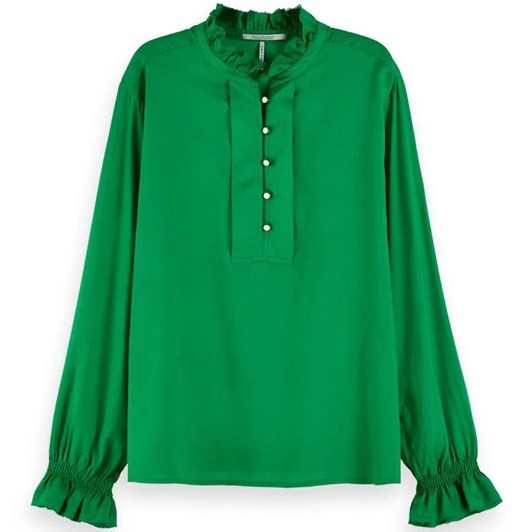 Maison Tunic Top With Ruffle Collar