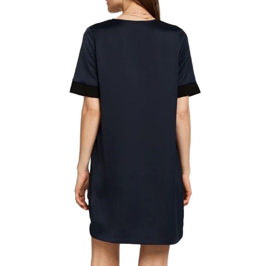 Maison V-Neck Dress With Rib Detail