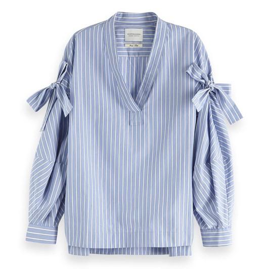 Maison Striped Cotton Top