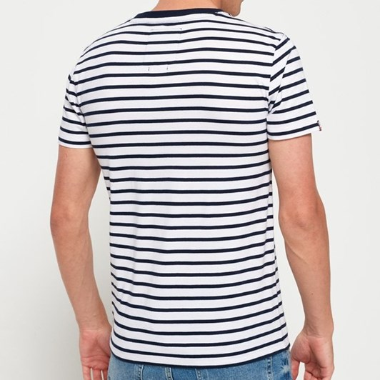 Superdry Stacked Chestband Stripe Tee