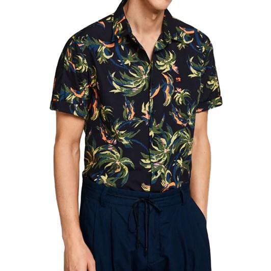 Scotch & Soda Palm Pattern Shirt Regular Fit