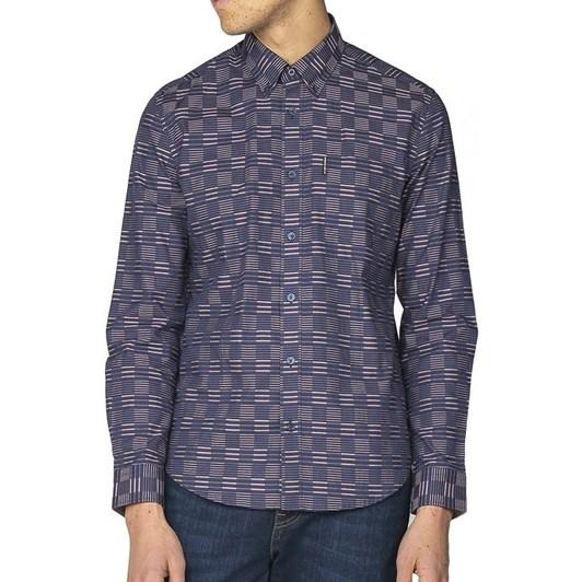 Ben Sherman Ls Ivy Stripe Check Shirt