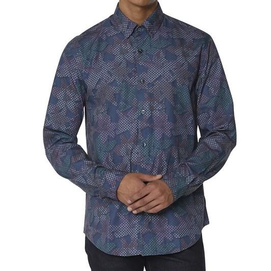 Ben Sherman Ls Tropical Geo Print Shirt