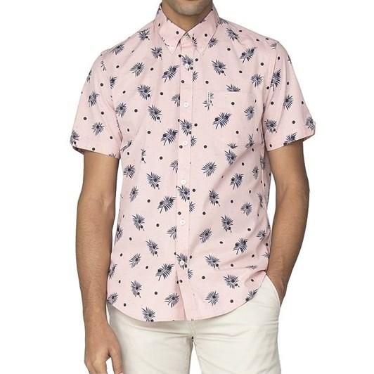 Ben Sherman Ss Scattered Palm Shirt
