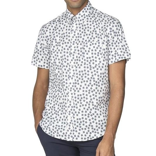 Ben Sherman Ss Scattered Scratch Geo Shirt