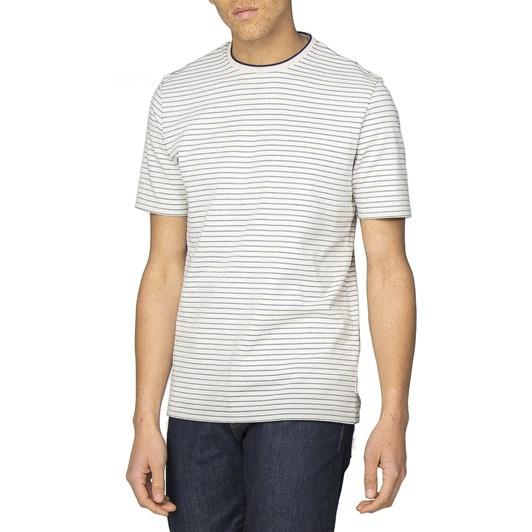 Ben Sherman Tonal Stripe Jersey Longline T-Shirt