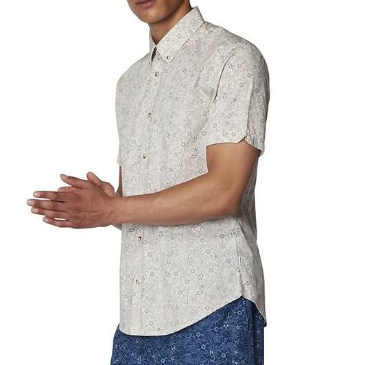 Ben Sherman Ss Retro Floral Shirt