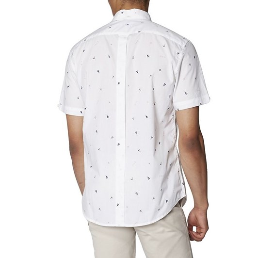 Ben Sherman Ss Nautical Print Shirt