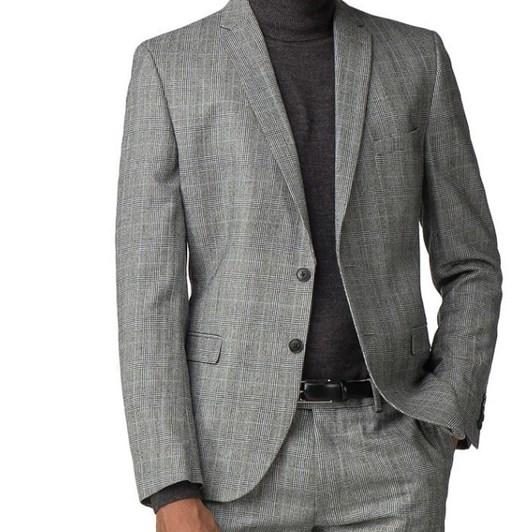 Ben Sherman Grey Pow Mod Check Jacket
