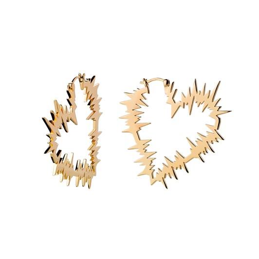 Karen Walker Electric Heart Hoop Earrings