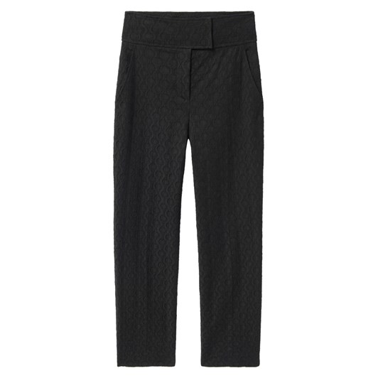 Rebecca Taylor Textured Cotton Jacquard Pant