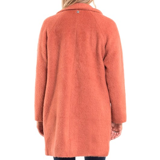 All About Eve Fuzzy Longline Coat
