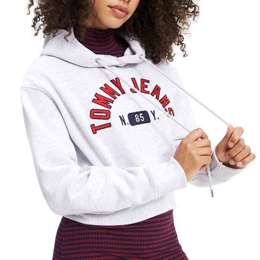 Tommy Jeans Embroidered Logo Cropped Hoody