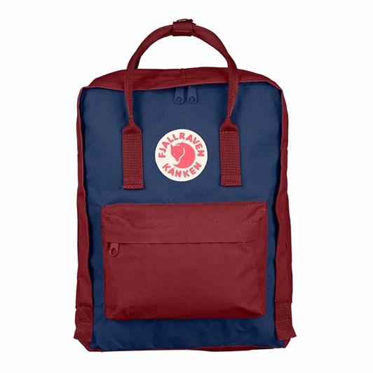 Fjallraven Kanken Royal Blue - Ox Red Backpack