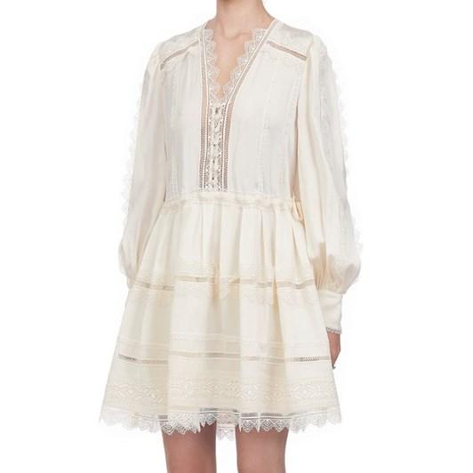Self-Portrait Lace Trim Mini Dress