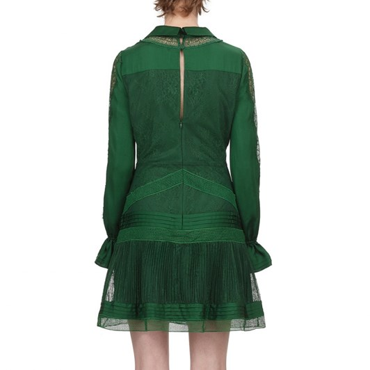 Self-Portrait Fine Lace Trim Mini Dress