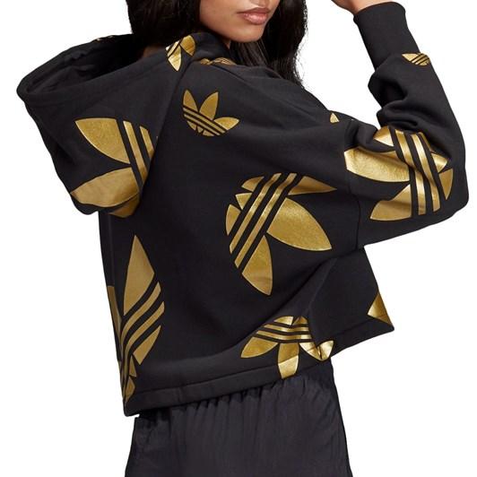 Adidas Large Logo Cropped Hoodie